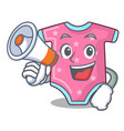 with megaphone character baby clothes hanging on vector image vector image