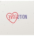 Word-game with the word Evolution vector image