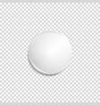 transparent realistic white badge vector image