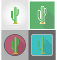 wild west flat icons 16 vector image
