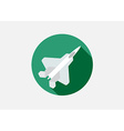 Aircraft or Airplane Icon Flat Minimal Silhouette vector image vector image