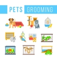 Animals pets grooming flat colorful vector image vector image