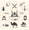 Arabian icons set vector image