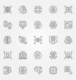 artificial intelligence outline icons set ai vector image vector image