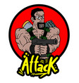 attack war icon vector image vector image