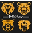 Bear faces mascot emblem symbols vector image