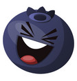 blueberry having fun and laughs on white vector image vector image