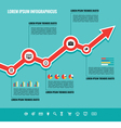 Business Graphic Up-Trend vector image vector image