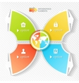 Business Infographics four stages with icons vector image vector image