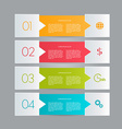 Business infographics tabs template for vector image