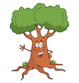 Cartoon Tree Character Waving A Greeting vector image vector image