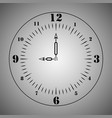 clock on a light background template icon vector image