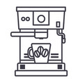 coffee machine with cup line icon sign vector image vector image