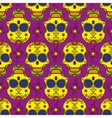 Colored skul pattern vector image vector image
