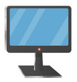 computer screen on stand icon vector image