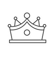 crown with gems jewelry related outline icon vector image vector image