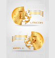 cryptocurrency coins design vector image vector image