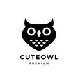 cute owl logo icon vector image