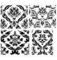 damask patterns set vector image vector image