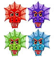 Dragon heads vector image vector image