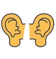 ears concept line icon editable stroke vector image vector image