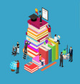 educational concept isometric view vector image vector image