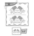 find 9 differences game black racing vector image vector image