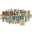 find the perfect uk holiday offers text vector image vector image
