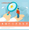 flat business recruitment template vector image
