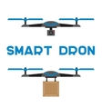 Flat quadrocopters icons vector image vector image
