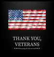 for veterans day thank you graphic vector image vector image