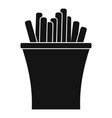 french fries icon simple black style vector image