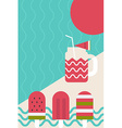 Fresh summer popsicle vector image vector image
