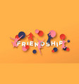 friendship concept papercut people jumping vector image vector image
