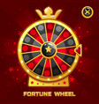 gold fortune wheel for ui game vector image vector image