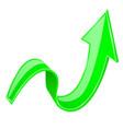 green 3d up arrow vector image vector image