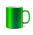 Green ceramic mug for printing corporate logo vector image vector image