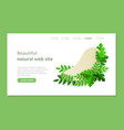 green eco plants around the shape on the web site vector image