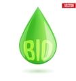 green oil industry drop symbol vector image vector image