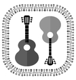 Guitars Silhouettes Isolated vector image vector image