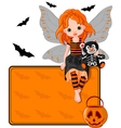 halloween fairy vector image vector image