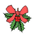 hand drawn mistletoe vector image vector image