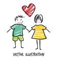 handdraw familija8 vector image vector image