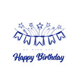 happy birthday congratulations with flags vector image
