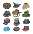 hat fashion clothing headgear or headwear vector image