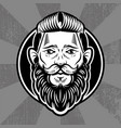 hipster face man vector image
