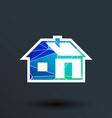 home icon button logo symbol concept vector image vector image