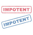 impotent textile stamps vector image vector image