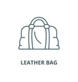 leather bag line icon linear concept vector image vector image
