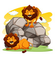 Lions vector image vector image